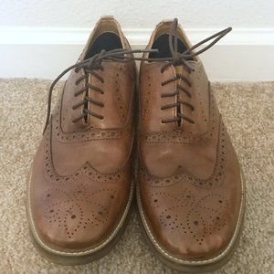 Aldo Brown Leather Wing Tip Oxfords Dress Shoes